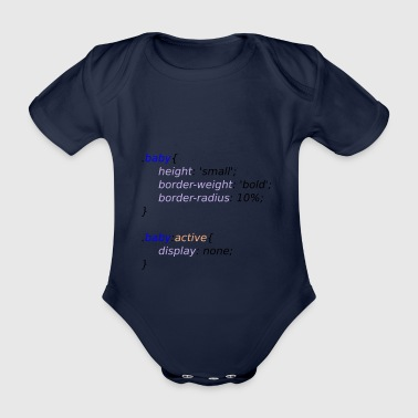 Baby with Style - Organic Short-sleeved Baby Bodysuit