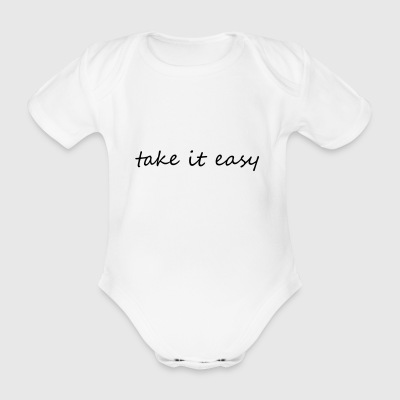 Take it easy - Body ecologico per neonato a manica corta