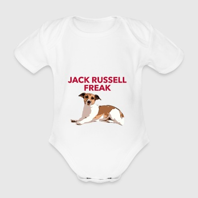 Jack Russel Freak red - Organic Short-sleeved Baby Bodysuit