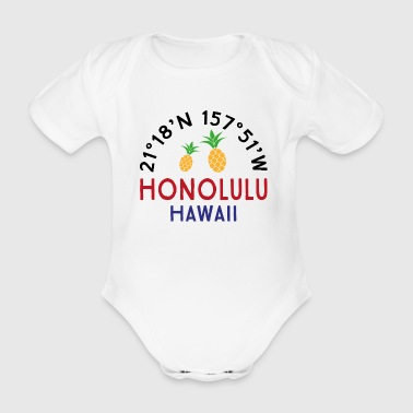 Honolulu - Organic Short-sleeved Baby Bodysuit