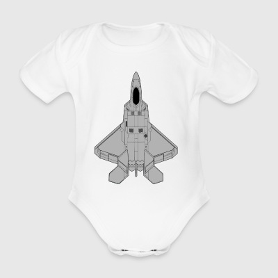 fighter aircraft - Organic Short-sleeved Baby Bodysuit
