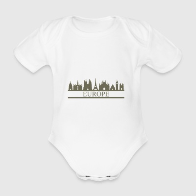 skyline europe - Organic Short-sleeved Baby Bodysuit