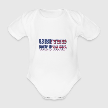 United We Stand - Organic Short-sleeved Baby Bodysuit