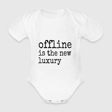 Can't live without internet. Gifts for friends - Organic Short-sleeved Baby Bodysuit
