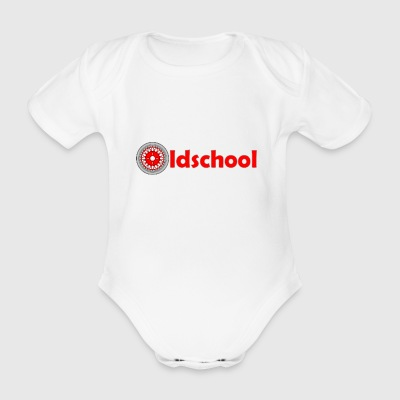 oldschool_wheel - Organic Short-sleeved Baby Bodysuit