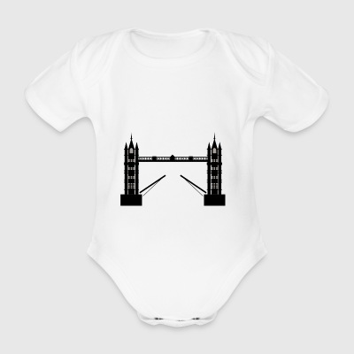 bridge - Organic Short-sleeved Baby Bodysuit
