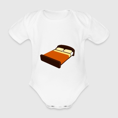 bed - Organic Short-sleeved Baby Bodysuit