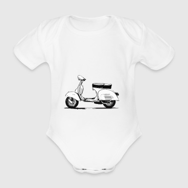 scooter - Organic Short-sleeved Baby Bodysuit
