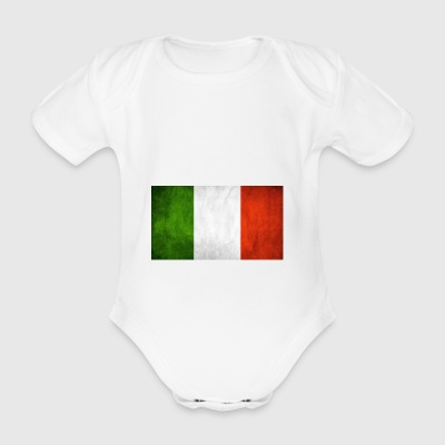 Italian flag - Organic Short-sleeved Baby Bodysuit