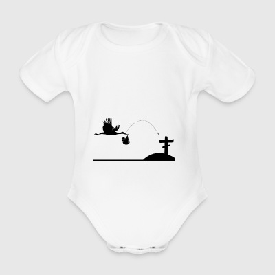 Stork from birth to dead - Organic Short-sleeved Baby Bodysuit