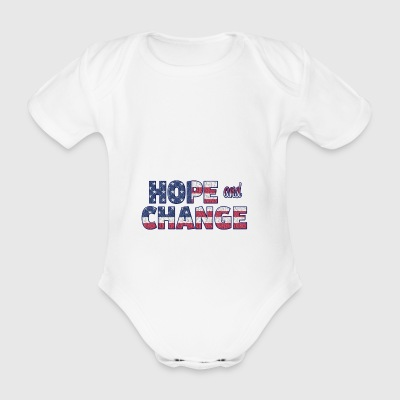 Hope and Change - Organic Short-sleeved Baby Bodysuit