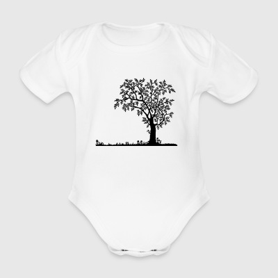 Nature silhouette - Organic Short-sleeved Baby Bodysuit