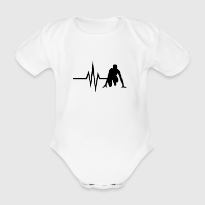 My heart beats for Running - Sprint Jogging Fit - Organic Short-sleeved Baby Bodysuit