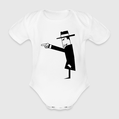 Spy with hat - Organic Short-sleeved Baby Bodysuit