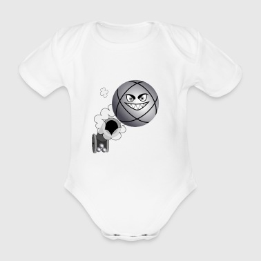 petanque shooter the tile at the petanque - Organic Short-sleeved Baby Bodysuit