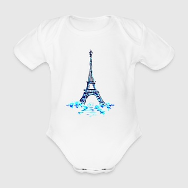 eiffel on ice - Baby Bio-Kurzarm-Body