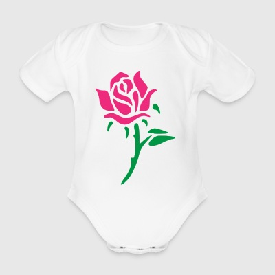 rose - Organic Short-sleeved Baby Bodysuit
