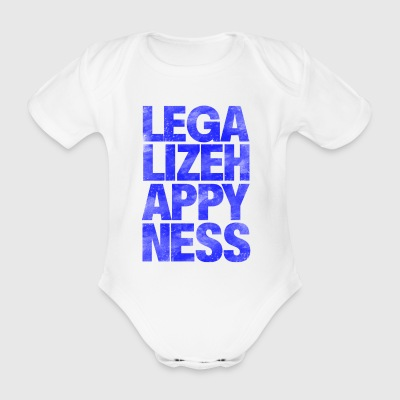 Legalize Happiness T-Shirt - Organic Short-sleeved Baby Bodysuit