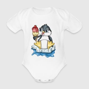 Penguin Larry Version 2 - Ekologisk kortärmad babybody