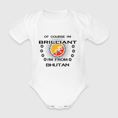 I AM GENIUS BRILLIANT CLEVER BHUTAN - Organic Short-sleeved Baby Bodysuit