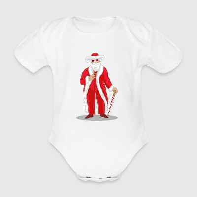 Big Pimpin' Santa - Organic Short-sleeved Baby Bodysuit