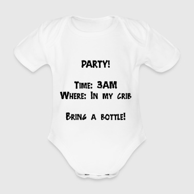 Party baby - Organic Short-sleeved Baby Bodysuit