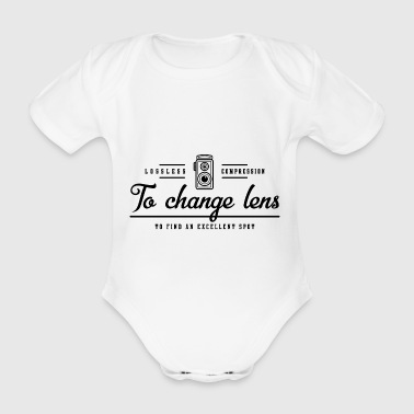 photography - Organic Short-sleeved Baby Bodysuit