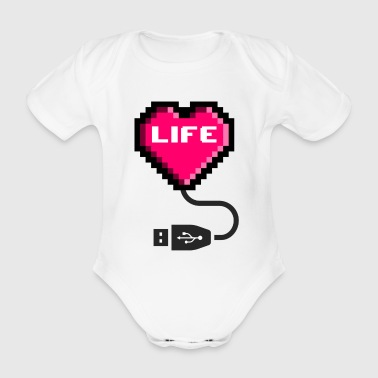 GeekLife - Organic Short-sleeved Baby Bodysuit