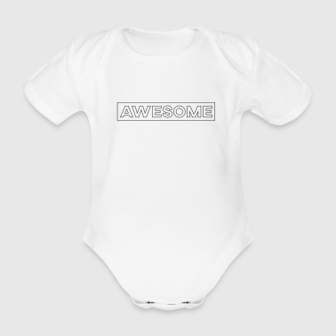 Awesome - Awesome & Simple - Økologisk kortermet baby-body