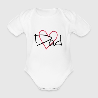 Heart Dad - Organic Short-sleeved Baby Bodysuit