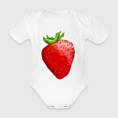 strawberry - Organic Short-sleeved Baby Bodysuit