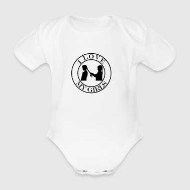 Love my girlfriends - Organic Short-sleeved Baby Bodysuit