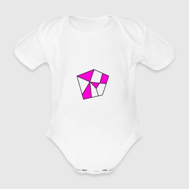 Cool pentagon. Gift idea - Organic Short-sleeved Baby Bodysuit
