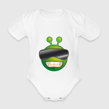 Alien Summer - Organic Short-sleeved Baby Bodysuit