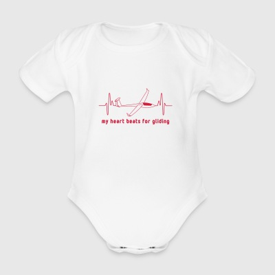 Heartbeat gliding - Organic Short-sleeved Baby Bodysuit