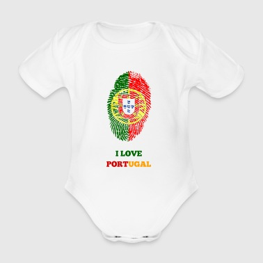 I LOVE PORTUGAL - Organic Short-sleeved Baby Bodysuit