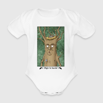 Tree portrait - Organic Short-sleeved Baby Bodysuit