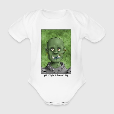 Orc portrait - Organic Short-sleeved Baby Bodysuit