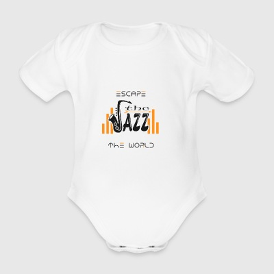 Escape the World Jazz Saxophon Music Passion Song - Baby Bio-Kurzarm-Body