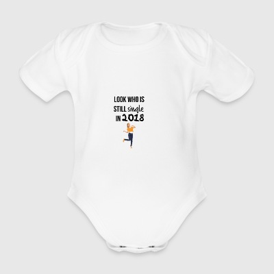 2018 single - Organic Short-sleeved Baby Bodysuit