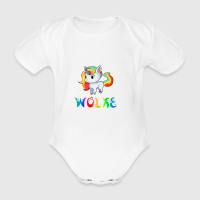 Cloud unicorn - Organic Short-sleeved Baby Bodysuit
