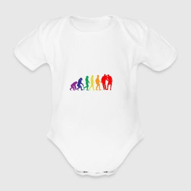 Gay evolution sex gift gay gaypride - Organic Short-sleeved Baby Bodysuit