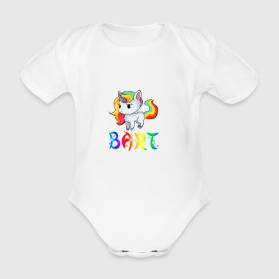 Unicorn beard - Organic Short-sleeved Baby Bodysuit