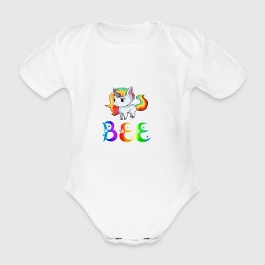 Unicorn Bee - Organic Short-sleeved Baby Bodysuit