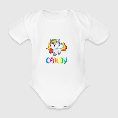 Unicorn Candy - Organic Short-sleeved Baby Bodysuit