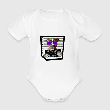 Bad Dog Pit Bull - Organic Short-sleeved Baby Bodysuit