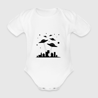 Alien - Organic Short-sleeved Baby Bodysuit