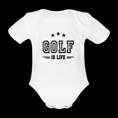 golf is life II / Golf is leven - Baby bio-rompertje met korte mouwen