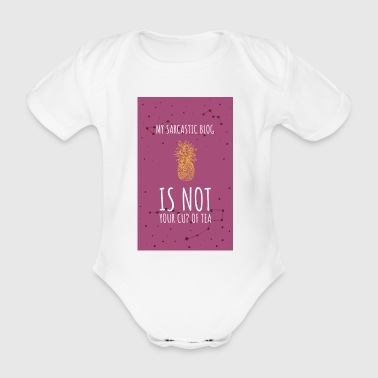 My Sarcastic Blog3 - Organic Short-sleeved Baby Bodysuit