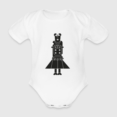 Kuh Rock Heavy Metal Dame - Baby Bio-Kurzarm-Body